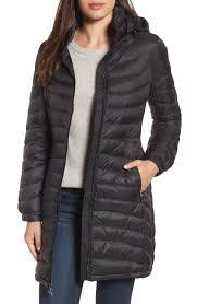 Women's Quilted Jackets | Nordstrom & MICHAEL Michael Kors Hooded Down Coat (Regular & Petite) Adamdwight.com