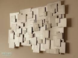 i m sure you ve seen those modern panel artwork that look a lot like this cardboard piece doing the wooden version is also an easy diy project but if  on diy wooden wall art panels with wall art 10 clever ways to upcycle cardboard