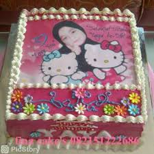 Kue Ultah Edible Hello Kitty Fina Cakes Pontianak