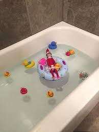 elf on the shelf bathtub elf on the shelf day jingle bell lounging in the bathtub elf on the shelf bathtub