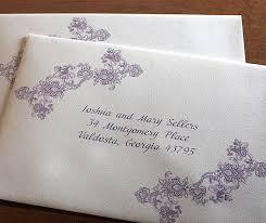 Wedding Invite Address Labels Custom Wedding Invitation Envelope