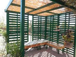 shades green rectangle contemporary bamboo and wood patio shade structure stained design outstanding patio