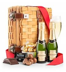 chagne and chocolates for two chagne gift baskets the definitive pairing of sparkling chagne and creamy chocolate is perfect for every