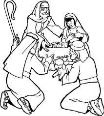 De Herders In De Stal Bible Class Nt Handwork Christmas