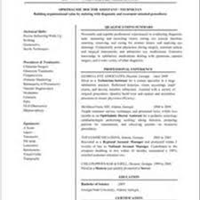 Ophthalmic Assistant Resume Sample Ophthalmic Technicianme Certified Assistant Resume Sle Pic Sample 17