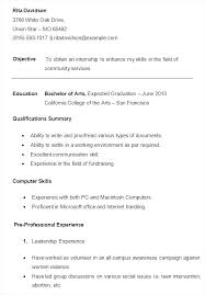 Sample College Freshman Resume Great Resume Examples For College ...