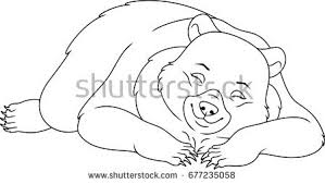 Small Picture Cartoon bear sleeping clip Stock Images Royalty Free Images