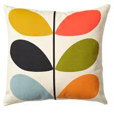 living room orla kiely multi: multi stem cushion multi cusmst multi multi stem cushion multi