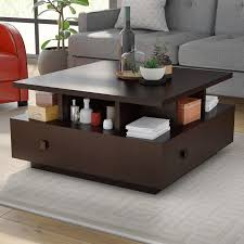 Latitude Tile And Decor Latitude Run Square Coffee Table Reviews Wayfair With Regard To 39