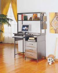 attractive metal computer desk with hutch with office desk materials furniture impressive design ideas using