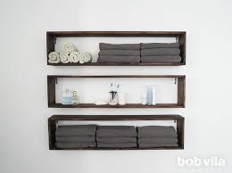 diy wall shelves bathroom storage