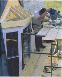 synopsis framing a hipped roof for a bay window is harder than it looks this article explains how to lay out framing members with the help of full scale
