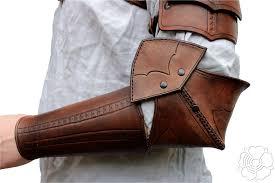 Leather Armor Patterns Impressive Shoulder Armor Bracer Brown48 By Bellatoreslucis On DeviantArt