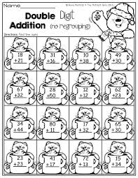 Christmas Addition Coloring Worksheets Without Regrouping Song ...
