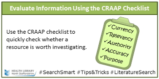 Craap Test Information Skills For Health Evaluating Resources Do You