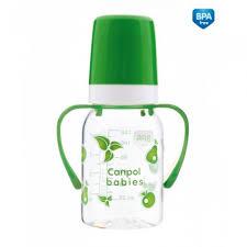 <b>Бутылочка</b> Canpol <b>тритановая с ручками</b> 120 мл 11/821 зеленый ...