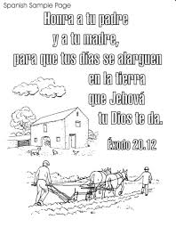 Small Picture Coloring Pages Bible Spanish Coloring Pages Free Printable