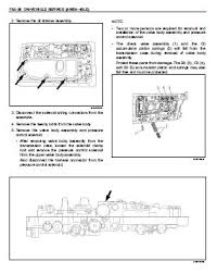 isuzu repair service manuals transmission aw30 40le model workshop manual