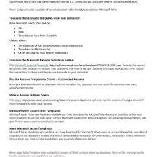 Resumes On Microsoft Word 2007 Free Resume Templates Microsoft Word 2007 Dockery Michelle Com