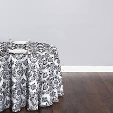 108 round tablecloth and black and white tablecloth in damask with 90 inch round tablecloth also