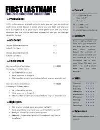 Microsoft Word Free Resume Templates Free Resume Template Word