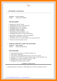 CA BCom Experienced Professional resume Format Download Jobnotification in