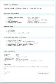 Normal Resume Format Normal Resume Format Chic Normal Resume Samples