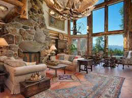 Rustic Living Room Rustic Living Room With French Doors Flush Light Zillow Digs