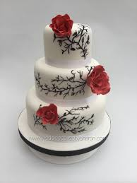 2 Tier Wedding Cakes With Red Roses Delicious Cake Recipe