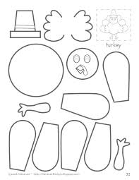 Free Turkey Printables Related Pictures Cut Paste And Color A ...