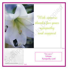 Thank You For Sympathy Card 10 Bereavement Funeral Thank You Sympathy Cards Memory Memorial Note
