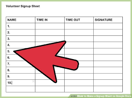 Make A Sign Up Sheet How To Make A Signup Sheet On Google Docs With Pictures