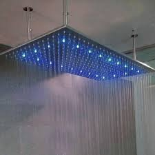 2019 high flow 20l rectangle 304 sus 500x1000mm ceiling rainfall led shower head color changing led lighting shower bathroom accessories from holtek