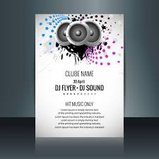 Geometric Music Party Flyer With Speakers | Free Vectors | Ui Download