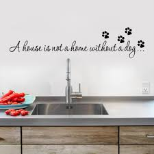 a house is not home without a dog paw print wall stickers es scheme of paw