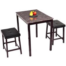 costway 3 pcs counter height dining set faux marble table 2 chairs d92e10ee 974e 4642