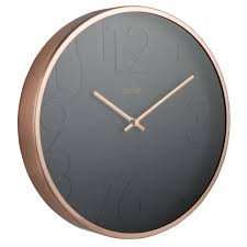 selected target wall clocks decor tips contemporary round copper black oversized epic target wall clocks