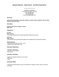 First Job Resume Template High School Student Resume Examples For Jobs First Job Template 1