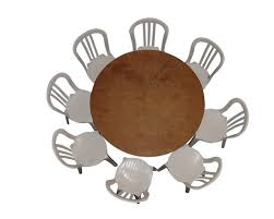 54 inch round table seats 8