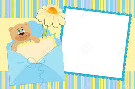 baby postcard template for babys photo album or postcard royalty free cliparts