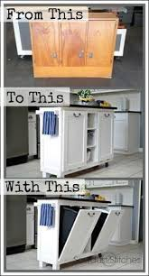 Cabinet Transformed Into A Kitchen Island. Cheap ...