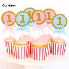 <b>OurWarm 10Pcs</b> 1st <b>Birthday</b> Cake Toppers <b>Birthday</b> Party Decor...