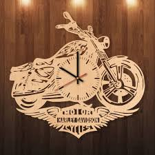 Harley Davidson Party Decorations Harley Davidson Party Decorations Handmade Natural Wood Wall Clock