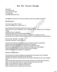 Resume Quality Assurance Tester Cover Letter Best Inspiration For