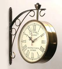 two sided wall clock double brand new golden iron x 6 inch 2 ping two sided wall clock