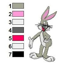 Bugs Bunny Embroidery Designs Looney Tunes Bugs Bunny 02 Embroidery Design