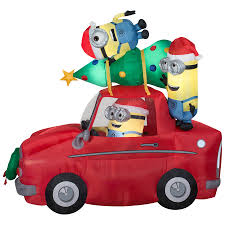 Shop Holiday Living 7.38-ft x 4.26-ft Lighted Minion Christmas ...