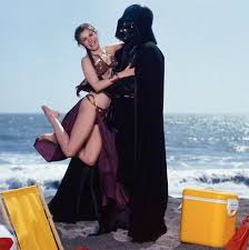 carrie fisher star wars beach. Perfect Fisher Slave Leia And Darth Vader On Beach  Star Wars Rolling Stone Cover July  1983 On Carrie Fisher Beach J