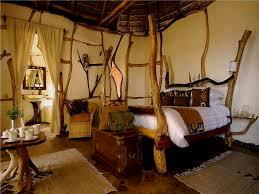 Interior  Fresh African Style Bedroom Design With Fancy Lighting African Room Design