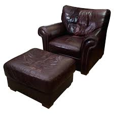 leather chair with ottoman leather chair ottoman costco